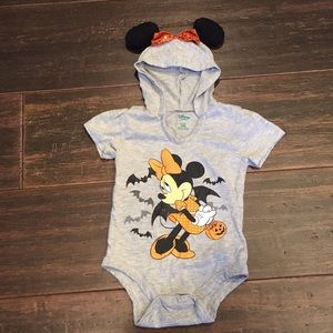 Girls 18 month Minnie Mouse onesie with ears